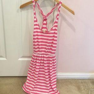 Hollister Pink Striped Dress